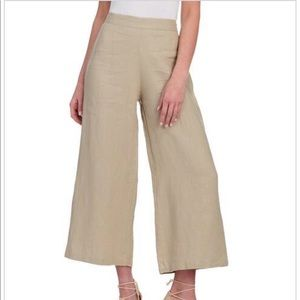 For Cynthia wide leg cropped linen pants lagenlook